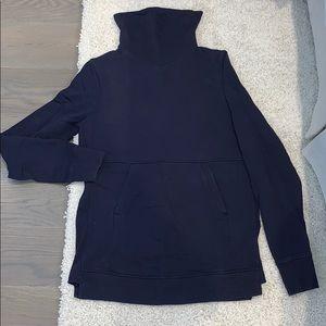 navy / deep purple lululemon sweatshirt
